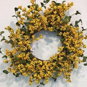 Yellow and Green Berry Front Door Wreath Spring Wreath Indoor Decorative Accessory