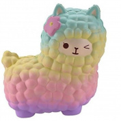 Echou Jumbo Sheep Squishy Cute Alpaca Galaxy Super Slow Rising Scented Fun Animal Toys