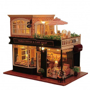 Flever Dollhouse Miniature DIY House Kit Manual Creative With Furniture for Romantic Artwork Gift