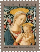 Florentine Madonna and Child USPS Forever First Class Postage Stamp U.S. Holiday Christmas Sheets (20 Stamps)