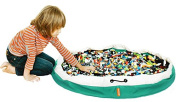 SWOOP Bag Original Toy Storage Bag + Play mat, GREEN - Ideal for organising and cleaning up Lego pieces!