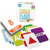 Kids Alphabet Colours Shapes and Numbers Learning Flash Cards - 58 cards with beautiful illustrations and bright colours