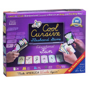 ABC Cool Cursive Flashcard Game – Learn to Write in an Easy, Fun Way - Standard & Cursive Letters – Perfect for Age 7 + , Educational Game for Home Use & Schools