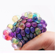 New Design Mesh Squishy Ball Grape Stress Balls Toy for Kids and Adults,Squeezing Ball Hand Wrist Ball Toy Stress Austism Mood Relief for Boys and Girls Party Favour Gift
