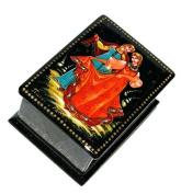 Dancers Russian Women Girls Dancing Hand Painted Palekh Miniature Art Lacquer Box