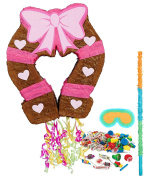 Pink Cowgirl Party Supplies - Pinata Kit
