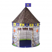 Prince Castle Play Tent Foldable Childrens Play Tent with Carrying Case for Indoor & Outdoor Use