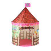 Princess Castle Play Tent Foldable Childrens Play Tent with Carrying Case for Indoor & Outdoor Use