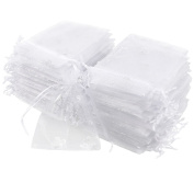 Golden Xmas Gift Bags Organza Wedding Favour Jewellery Candy Pouches Size 9x12CM