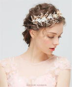 HAPPYMOOD Bridal Hair Pins Wedding Headpieces with Crystals Bridal Hair Accessories for Women on Wedding Party or Casual