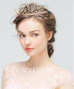 HAPPYMOOD Wedding Hair Piece Hair Vine Hair Comb Slides for Bride and Bridesmaid Wedding Accessary Hair Decoration