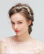 HAPPYMOOD Wedding hair Vine Woman Head Piece Hair Accessary Wedding Prom Bridal Decoration Crystal Handmade