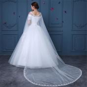 HAPPYMOOD Wedding Veil Woman Dress lace Veil Transparency Handmade Lace Flower Elegant Gorgeous Bridal