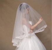 HAPPYMOOD Wedding Veil Sequines Applique Handmade Cathedral Length Bridal Veil Wedding Accessories for Women