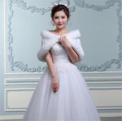 HAPPYMOOD Wedding Shawl Woman Winter Shawl Warm Cold Resistant High Quality Material Wedding Accessary Elegant Decoration