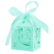 Tangbasi 50PCS Candy Boxes Decorative Boxes for Gift for Wedding Anniversary
