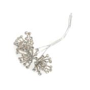 3 Wire Diamante Buggle Bead Silver Pick