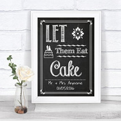 Chalk Sketch Let Them Eat Cake Personalised Wedding Sign