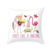 Verlike Lovely Unicorn Pillow Case Bed Waist Cushion Cover Cafe Home Decor Gift