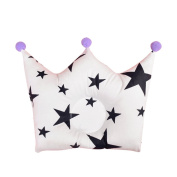 Baby Forming Cotton Pillow Minuya Prevent Flat Head Cute Crown Shape Pillow