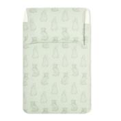 The Little Green Sheep Wild Cotton Organic Duvet and Pillow Case Set (120 x 150 cm) - Rabbit