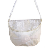 Girls over the body ivory satin bag ideal for bridesmaids and flower girls