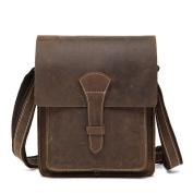 GTUKO Genuine Leather Men Bag Male Vintage Small Shoulder Messenger Bags Crossbody Bags Messenger Bag Men Leather , Coffee