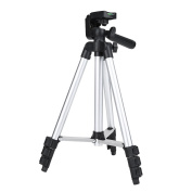 Portable Aluminium Alloy Scalable Pan Head Tripod Stand for Camcorders & DSLR Camera