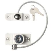 Baoblaze Window Door Restrictor Security Lockable Lock Cable Child Safety Catch