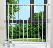 Fairy Baby Child Window Guards Vertical Safety Bars Metal Security Grilles, 74-81 cm/29.1-31.9 in, White