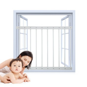 Fairy Baby Adjustable Child Safety Window Guard Internal Grilles, White, 80-92 cm