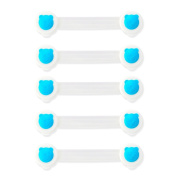 YeahiBaby Cabinet Lock Straps Baby Safety Lock Strap for Refrigerators Doors Cabinet Drawers 5pcs