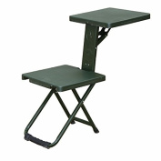 ABS Plastic Panel Metal Frame Folding Chair with Writing Table