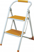 AZUMAYA Folding Step Stool Ladder Yellow LFS-007YE