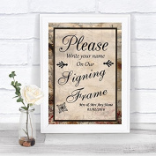 Vintage Signing Frame Guestbook Personalised Wedding Sign
