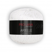New 2018 50g Pro Lana Arielle - Colour 01 - wonderful Sequin yarn for your Summer fashion