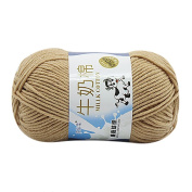 DIKEWANG 1PC 50g NEW DIY Hand-woven Soft Comfortable Chunky Colourful Hand Knitting Scores Milk Cotton Yarn,Perfect for Kinting Sweaters,Hats,Scarves,Blanket