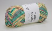 Rico – Creative Cotton Aran Print Knit and Crochet Wool 50 g/85 019 Green/Orange