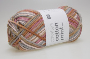 Rico – Creative Cotton Aran Print Knit and Crochet Thread 50g/85 M 025 Red/Brown