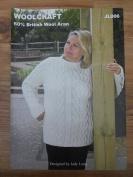 Woolcraft Ladies Sweater JL006 Knitting Pattern