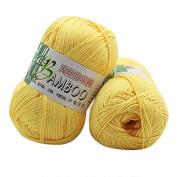 JoyJay New 100% Bamboo Cotton Warm Soft Natural Knitting Crochet Knitwear Wool Yarn 50g C