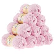 10 x 50g balls Cuddle Yarn Wool Softy by Alize # 98 Pink