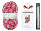 Opal 4ply Yarn Sock Knitting Kit - Wool, DPN's, Stitch Markers & Pattern Schafpate 7954 Claire