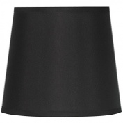Contemporary and Traditional, Hard-Back Drum Lamp Shade, Black