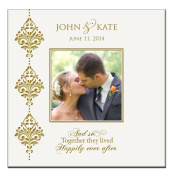 """Personalised Wedding or Anniversary Photo Album and so Together They Lived Happily Ever After """" Holds 200 4x6 Photos"""