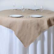 Tableclothsfactory CHAMBURY CASA Fine Rustic Burlap Tablecloth/Table Overlay 180cm x 180cm Natural Tone
