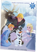 Olaf's Frozen Adventure Chocolate Advent Calendar with 24 Milk Chocolates for Holiday Countdown