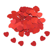 Valentines Day and Wedding Confetti - 35ml   Red Heart Confetti   Valentine and Wedding Party Supplies  Metallic Foil Confetti for Table Bed Decorations