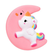 Soft Stress Reliever Toys, Bescita 10cm Cute Moon Unicorn Cream Scented Squishy Slow Rising Squeeze Strap Kids Toy Gift
