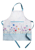 Maison d' Hermine Flower in the field 100% Cotton Apron with an adjustable neck & hidden centre pocket 70cm by 80cm